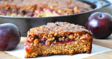 کیک الو با رویه شکر قهوه ای و دارچین