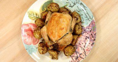 مرغ اسفناجی با قارچ