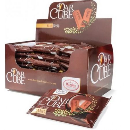 شکلات با مغز کریسپ (دارک) ۵۰ گرم باراکا