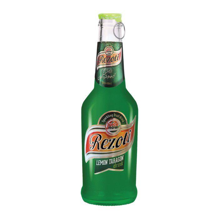 نوشیدنی گازدار شیشه لیمو ترخون رزوتی