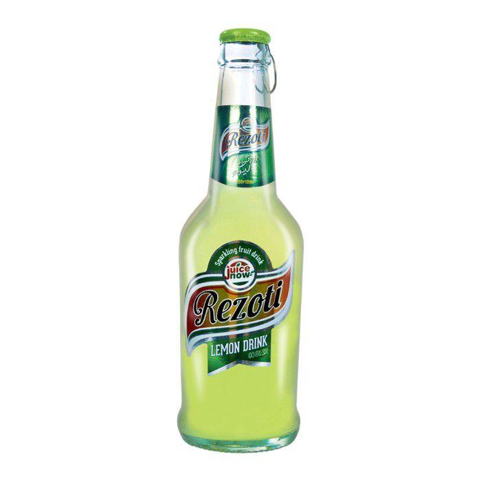 نوشیدنی گازدار شیشه ای لیمویی رزوتی