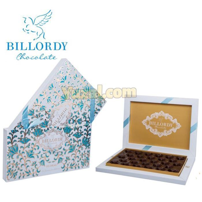 شکلات کادویی بیلوردی مدل فلورال مقدار ۲۱۵ گرم