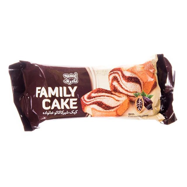 کیک خانواده کاکائویی ۱۱۰ گرمی نادری